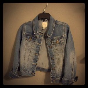 Girls light washed jean jacket